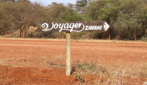Sign to Ziwani Camp