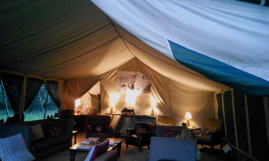 A warm and inviting reception at the Nairobi Tented Camp