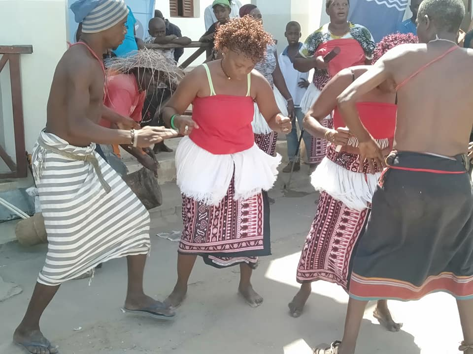 Pokomo Cultural Dancers during the Lamu Cultural Festival